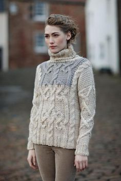 Rowan Yarns F/W 12-13 - love the colour combination and the upper sleeve detail