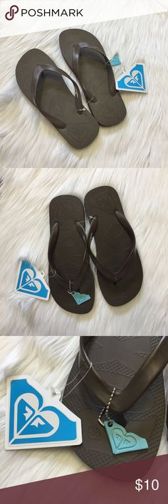Roxy La Jolla Brown Flip Flops Brown rubber thongs from Roxy. Firm yet comfy! New with tags. ▪️Size 7. Roxy Shoes Sandals