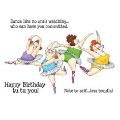 Art Impressions Girlfriends Cling Rubber Stamp Dancers Set 3580 for sale online Happy Birthday Quotes, Happy Birthday Greetings, Happy Birthday Girlfriend, Sister Birthday, Funny Birthday Wishes, Birthday Humorous, Birthday Sayings, Art Impressions Stamps, Crazy Friends