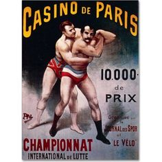 Trademark Fine Art International Wrestling Championship Canvas Art by Pal, Size: 24 x 32, Multicolor
