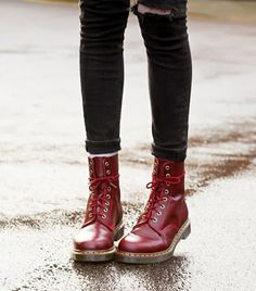 @Alexandra M What Wear - Combat Boots                 Your style: '90s grunge redux Your catchphrase: Courtney 'n' Kurt forever.  Shop The Look: Dr. Martens 1460 W Boots ($120)