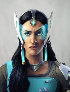 Symmetra's Realistic Portrait by Xyrlei.deviantart.com on @DeviantArt - More at https://pinterest.com/supergirlsart/ #overwatch #fanart