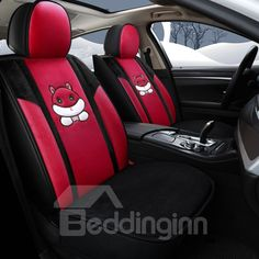 9pcs//Set Car Seat Cover Comfortable Dustproof Seat Protectors Pad Cover Universal Full Seat Covers for Vehicle Cars Rose red