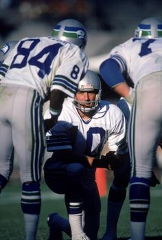 Quarterback Jim Zorn of the Seattle Seahawks kneels in the huddle during a 1980 season game Jim Zorn played for the Seattle Seahawks from 19761984