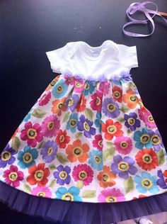 Girls A-line, Short Sleeved, Full or Knee Length Dress