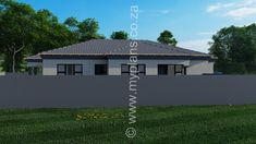 3 Bedroom House Plan MLB 008.1S - My Building Plans South Africa My House Plans, Bedroom House Plans, My Building, Building Plans, Guest Toilet, Double Garage, Open Plan Living, Master Suite, Living Area