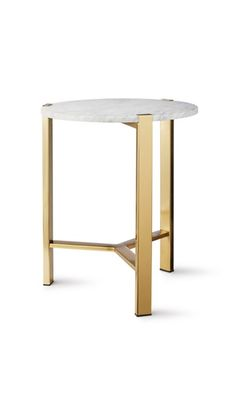 Marble Top Gold Side Table $89