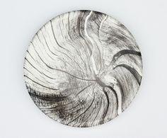 Heidi Harrington's woodcut ceramic plates