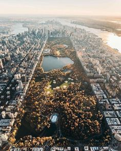 Central Park from above by Jeremy Dupont - The Best Photos and Videos of New York City including the Statue of Liberty, Brooklyn Bridge, Central Park, Empire State Building, Chrysler Building and other popular New York places and attractions.