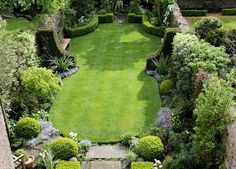small, walled garden