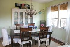*PinkPostcard.*: Shabby Chic Dining Room