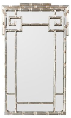 Greek Key Mirror, Champagne