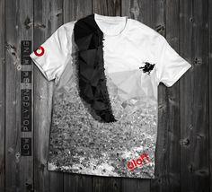 "#ShopifyPicks ,www.aloft.clothing ""Low Polygon Wingover Black & White"" men's t-shirt, white cotton, paragliding brand, casual line  Like our page: https://www.facebook.com/AloftBoundaryLayerApparel"