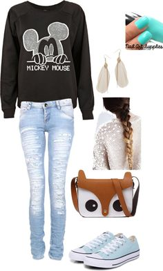 """Disneyland outfit!!!!!!!!!"" by anisar99 ❤ liked on Polyvore"