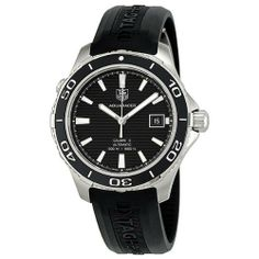 Tag Heuer Aquaracer 500 Automatic Mens Watch WAK2110.FT6027 TAG Heuer. $1748.63. Date. Black Rubber Strap. Water Resistance : 50 ATM / 500 meters / 1650 feet. Round Stainless Steel Case. Automatic. Save 35% Off!