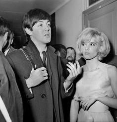 Paul Mccartney 1964 with Sylvie in paris