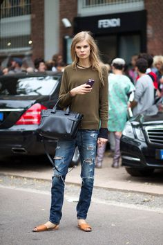Distressed Denim Is The Coolest!
