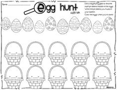 find the math problems hidden in the eggs!