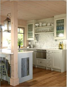 Maybe we could open up the kitchen to the dining room like this? Would that allow for enough storage space?