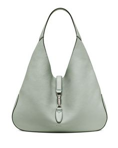 Jackie Soft Leather Hobo Bag, Light Blue by Gucci at Neiman Marcus.