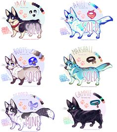 wee corgi babs for sale - price reduced by BabyWolverines on DeviantArt Cute Disney Drawings, Cute Animal Drawings, Animal Sketches, Cute Drawings, Anime Animals, Cute Animals, Furry Oc, Wolf Artwork, Cute Dogs Breeds