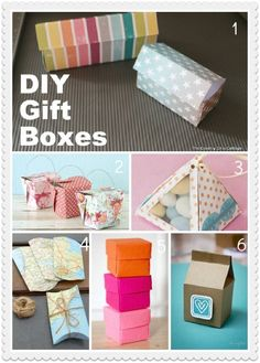 DIY Gift Boxes. These lack refinement but do nevertheless represent the best part of favor boxes: unlimited personalization #diy gifts #creative handmade gifts #handmade gifts| http://doityourselfgifts.lemoncoin.org