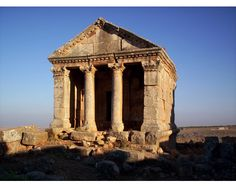 An ancient building in Idlib, Syria.
