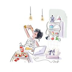 illustration magalie F pizza.jpg - Magalie F | Virginie
