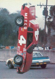 Historical Motorsports Stories: The Saga of the 1981 NASCAR Downsizing Nascar Crash, Nascar Race Cars, Old Race Cars, Sports Car Racing, Drag Racing, Auto Racing, Sprint Cars, Nascar Wrecks, Vintage Race Car