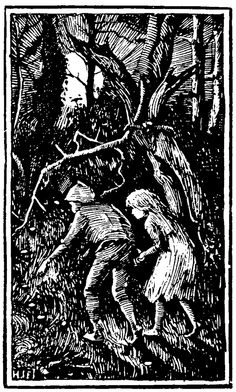 'They could not find a path out of the wood.' Illustration by H. J. Ford from Hansel and Gretel – and Other Siblings Forsaken in Forests (Origins of Fairy Tales from Around the World)