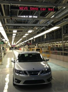 THE first, pre-production, NEVS Saab! The restart of Saab car production after the failure 2 years ago!