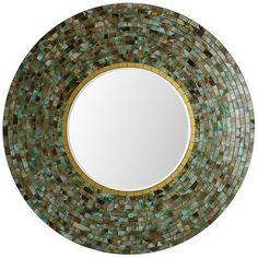 Ocean Mosaic Mirror - Round