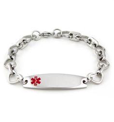 Sclérose en plaques Laser Medical Alert pour italien Charm Bracelets Libre Carte ID