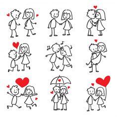 love doodles for boyfriend ; love doodles for him ; love doodles for boyfriend to draw ; love doodles for boyfriend for him Love Doodles, Simple Doodles, Easy Cartoon Drawings, Disney Drawings, Easy Drawings, Drawing Disney, Valentine Doodle, Valentines Day Drawing, Valentine Cookies