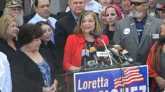 Loretta Sanchez enters 2016 Senate race in California counting on her Latino roots  It wasn't the most smooth campain launch. Loretta Sanchez said she hdn't made her mind up, then an anouncement advisory was leaked, and taken back. Then yesterday Sanchez made her formal announcement to run to replace Sen. Barbara Boxer. She has a formidable opponent, Kamala Harris has already raised $2.4 million.