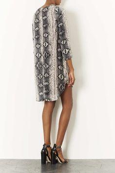 Snake Print Tunic Dress - Topshop