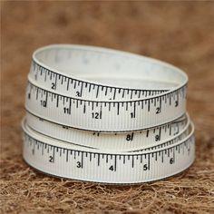 Tape Measure Ribbon - Cream