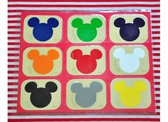 Mickeys Matching Game craft-ideas