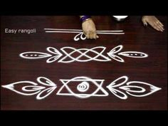 simple and easy rangoli side designs Rangoli Side Designs, Simple Rangoli Border Designs, Rangoli Simple, Rangoli Designs Latest, Rangoli Borders, Free Hand Rangoli Design, Small Rangoli Design, Rangoli Patterns, Rangoli Ideas