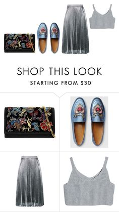 """""""Untitled #3944"""" by michelanna ❤ liked on Polyvore featuring Yves Saint Laurent, Gucci and Christopher Kane"""