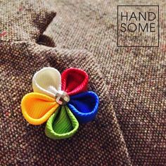 Handmade lapel pins by Handsomelittlething. Visit www.handsomelittlething.com for more design Lapel Pins, Textiles, Clothing, Handmade, Design, Style, Fashion, Outfits, Swag