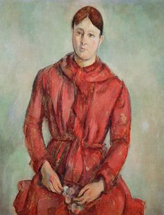 Paul Cézanne (French, 1839–1906). Madame Cézanne in a Red Dress, ca. 1888-90. Museu de Arte de São Paulo Assis Chateaubriand (88 P) | This work is featured in our Madame Cézanne exhibition on view through March 15, 2015.