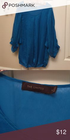The Limited blouse Gorgeous real color. Sheer sleeves. Elastic at waist. Machine washable. Polyester The Limited Tops Blouses
