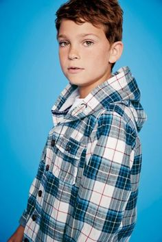 Buy Blue Check Button Through Shirt With Hood (3-16yrs) from the Next UK online shop