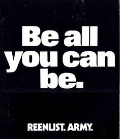 Be all you can be- U.S. Army recruiting poster