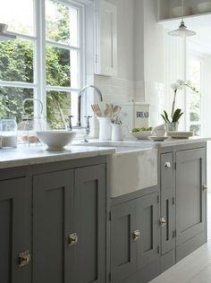 Grey kitchens- cupboard closures