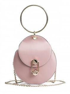Unique Retro Ring Handle Purse Handbag - Various Colors Mini Crossbody Bag, Crossbody Shoulder Bag, Purses And Handbags, Leather Handbags, Round Bag, Designer Shoulder Bags, Cheap Bags, Small Shoulder Bag, Black Tote Bag