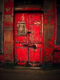 My favourite door by poodiecat, Glasgow Cool Doors, Unique Doors, Doors Galore, Best Front Doors, When One Door Closes, Windows And Doors, Red Doors, Gothic Architecture, Closed Doors