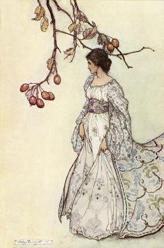Arthur Rackham >> Looking very undancey indeed  |  (Illustration, artwork, reproduction, copy, painting).