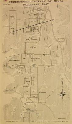 ballarat east underground survey of mines Gold Map, Urban Landscape, Historical Photos, Melbourne, Diagram, Thing 1, Victoria, Australia, Places